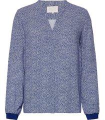 tonniepw bl blouse lange mouwen blauw part two