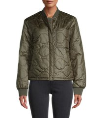 woolrich women's golden rod quilted bomber jacket - black - size xs