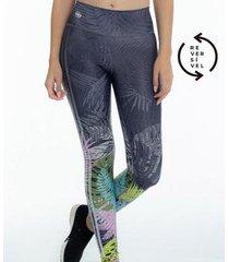 calça legging rola moça reversível feminina