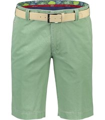 meyer short palma modern fit met riem groen