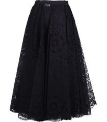 red valentino laced long skirt