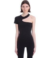 helmut lang t-shirt in black nylon