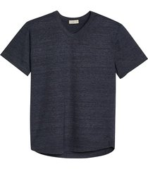 alternative apparel men's modern fit eco jersey shirttail v-neck t-shirt navy - size: medium