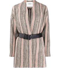 ba&sh casaco de tricô yumi com padronagem - neutro