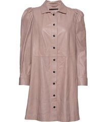 puff thin leather dress kort klänning mdk / munderingskompagniet