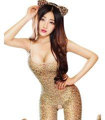 leopard eslingas medias sexy encaje floral pura ropa de cama