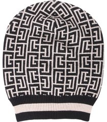 balmain knitted hat
