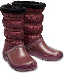 bota cano alto crocs crocband winter feminina