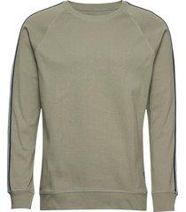 cotton rib stelt tape sweat-shirt tröja grön mads nørgaard