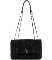 guess cessily tweed convertible shoulder bag