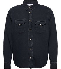 modern western overhemd casual blauw calvin klein jeans