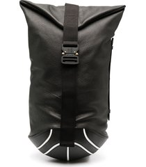 bgbl zip-up leather backpack - black