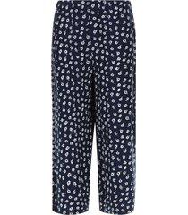 pantalón culotte flores color azul, talla 6