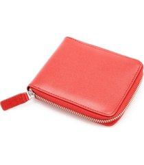 royce rfid blocking zip around wallet in genuine saffiano leather