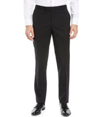 men's nordstrom slim fit stretch wool tuxedo dress pants, size 38 - black