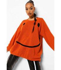 trui met gezicht, orange