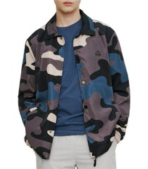 elevenparis men's all over print shell jacket