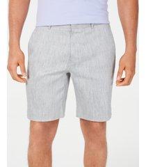 alfani men's stretch linen shorts, created for macy's