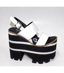 sandalia de cuero blanco tamara shoes