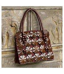 coconut shell handbag, 'blooming coconut' (thailand)