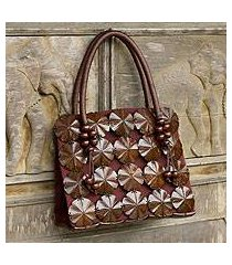 coconut shell handbag, 'blooming coconut' (thailand)