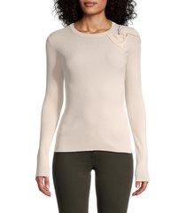 redvalentino women's maglia rib-knit sweater - cherry - size m