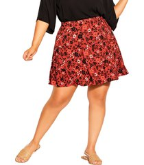 city chic island ditsy floral high waist skirt, size xx-small at nordstrom