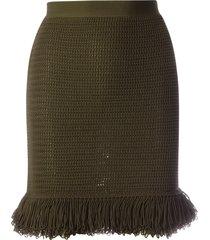 bottega veneta skirt compact cotton mesh