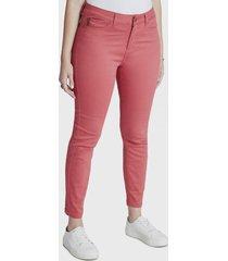 jeans pitillo rosa curvi