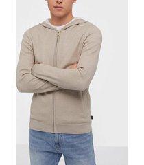 premium by jack & jones jprblamesh knit cardigan tröjor ljus brun