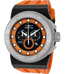 reloj invicta modelo 12320_out negro, naranja hombre