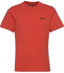 b.intl small logo tee t-shirts short-sleeved röd barbour