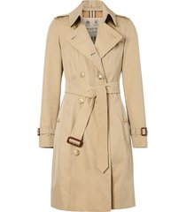 burberry chelsea heritage double-breasted trench coat - neutrals