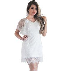 vestido it's moda kaftan off white