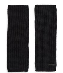 women's allsaints half-cardigan stitch arm warmers, size one size - black