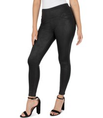 seven7 petite coated pull-on leggings