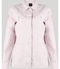 jaqueta de sarja feminina mindset com bolsos lilás