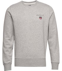 d1. medium shield c-neck sweat sweat-shirt trui grijs gant