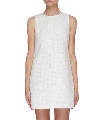 coley' tweed crewneck a-line mini dress