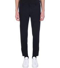 pt01 pants in black polyamide