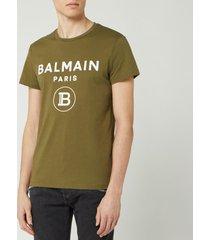 balmain men's small coin flock t-shirt - khaki - xl