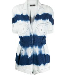 alanui tie dye playsuit - blue