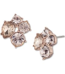 givenchy crystal cluster button earrings
