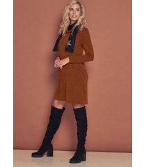 vestido marrón city lany