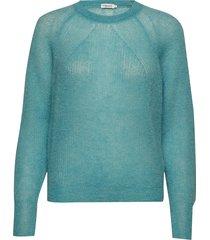 mohair r-neck sweater gebreide trui blauw filippa k