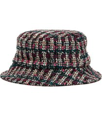 'jason' tweed bucket hat