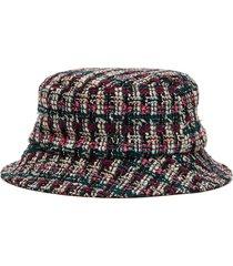 'jason' tweed bucket hat