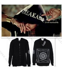 ss501 kim hyun joong zipper hoodie the third mini album unbreakable sweatershirt
