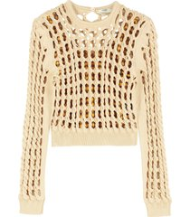 fendi cable knit pullover