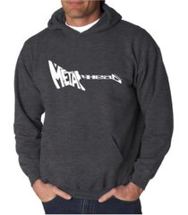 la pop art men's word art hoodie - metal head guitar